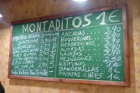 Taberna Blai Tonight, pinchos a 1€ en Barcelona